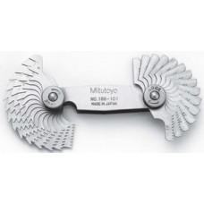 Bộ dưỡng đo  ren 2 hệ 0.4-7mm/4-42TPI (51 - Model: 188-151..
