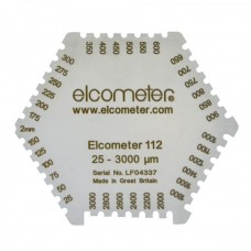 Elcometer 112 - Hexagonal Wet Film Comb: 25 - 3000µm