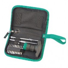 24pc ratcheting t-handle screwdriver set