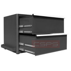 CSPS Black tool cabinet 91cm – 02 drawers VNGS3661BB12