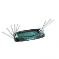 9pc sae hex key fold up set